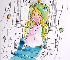 "Page 15. ""Why are you crying Princess Helena?"" asked Emily. ""Because of the shouting"" said the princess"